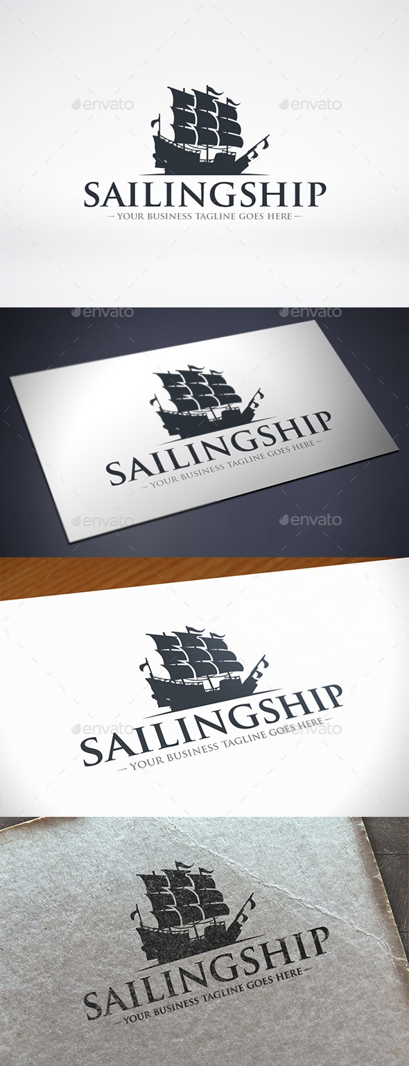 Sailing Ship Logo Template - Objects Logo Templates