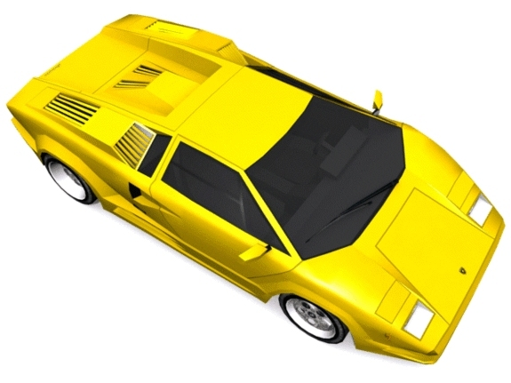 Lamborghini Countach - 3DOcean Item for Sale