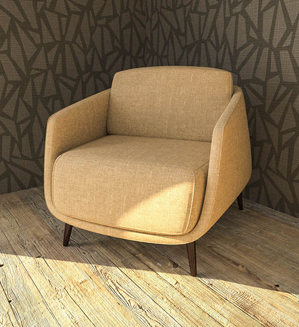 okura armchair - 3DOcean Item for Sale