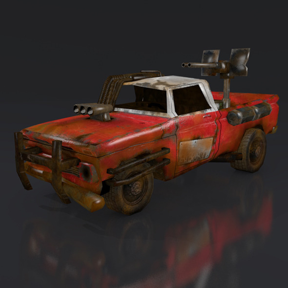 postapo Chevrolet C10 (1966), LOW POLY - 3DOcean Item for Sale