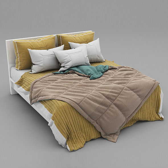Bed 27 - 3DOcean Item for Sale