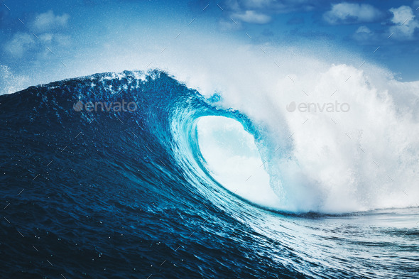 Blue Ocean Wave - Stock Photo - Images