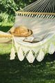 Crocheted hammock with straw hat and book - PhotoDune Item for Sale
