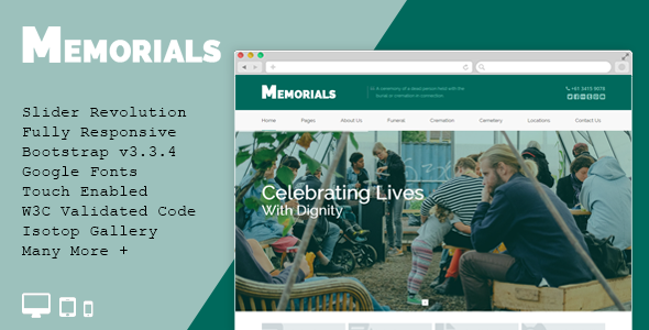 Memorials - Funeral & Cemeteries HTML5 Template - Business Corporate
