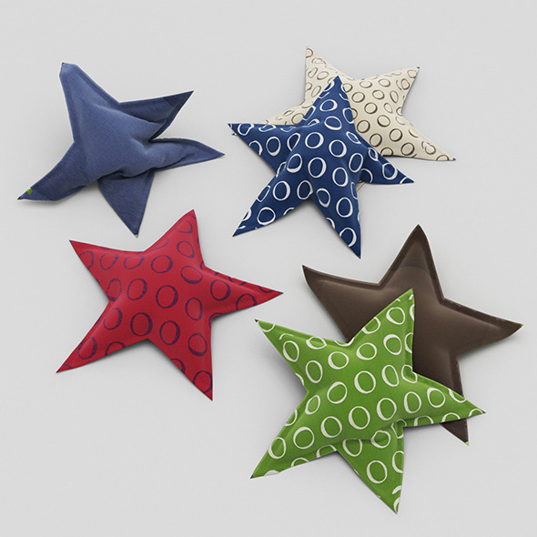 Pillows Star - 3DOcean Item for Sale