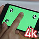 Girl Using Smartphone with Green Screen - VideoHive Item for Sale