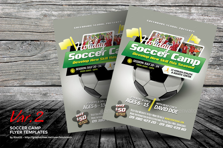 Soccer Camp Flyer Templates By Kinzishots  Graphicriver