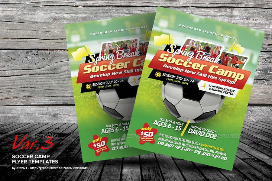 soccer flyer templates