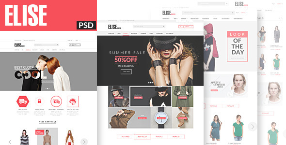 Elise – Fashion PSD Template