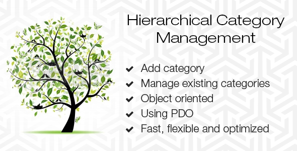 Hierarchical Category Management - CodeCanyon Item for Sale
