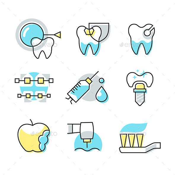 Dental Care Icons - Health/Medicine Conceptual