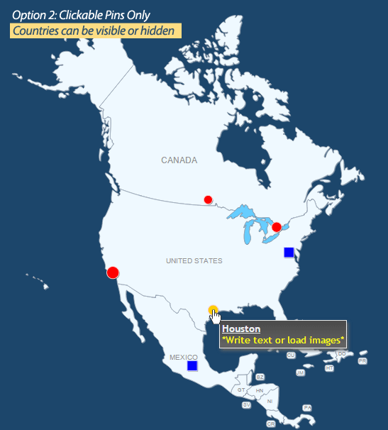 Interactive map of north america by art101 codecanyon north america map 01g gumiabroncs Gallery
