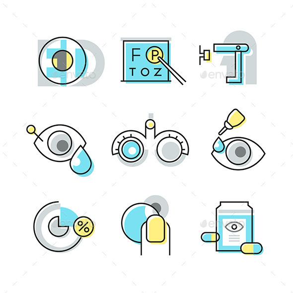 Optometry Icons - Health/Medicine Conceptual