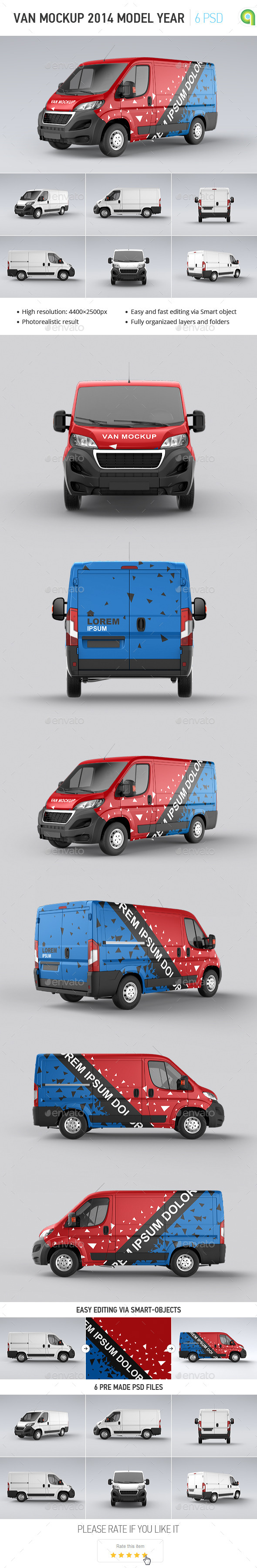 Van Mock-up 2014 Model Year - Vehicle Wraps Print