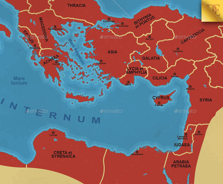 Roman Empire Map By EmirD GraphicRiver - Rome empire map