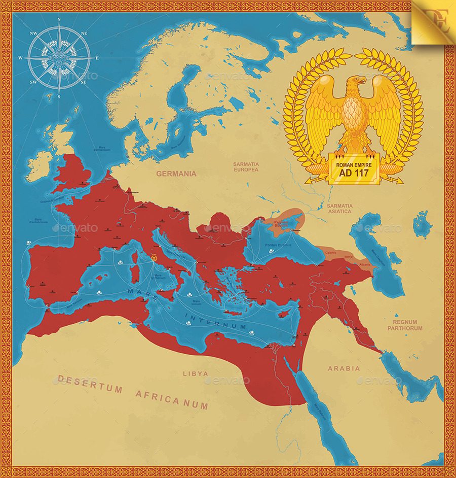 Roman Empire Map By Emird Graphicriver