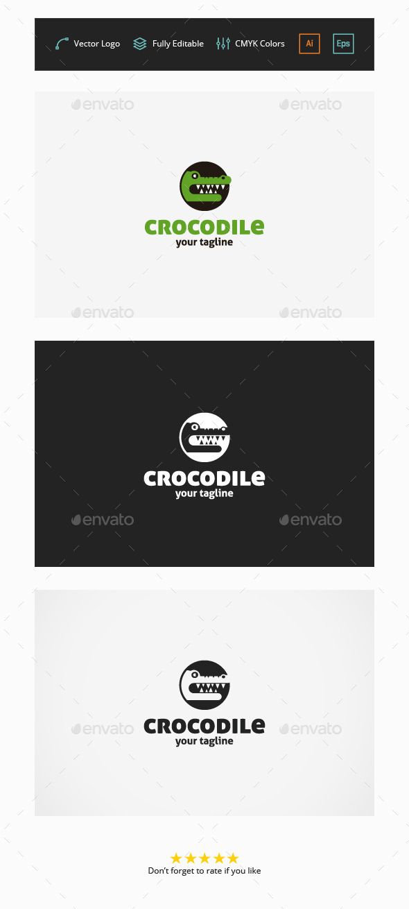 Crocodile Logo - Animals Logo Templates