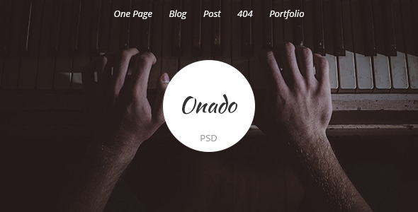 Onado – One Page PSD Template
