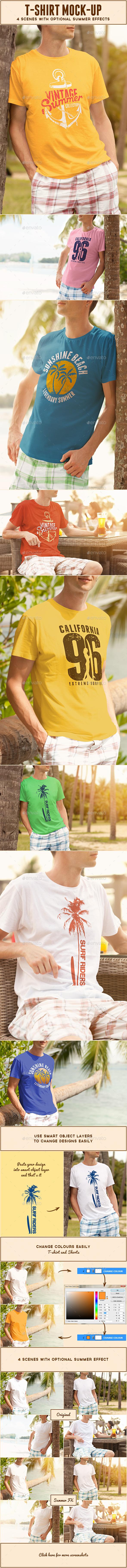 Male T-shirt Mock-up
