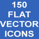 150 Flat Vector Icons - GraphicRiver Item for Sale