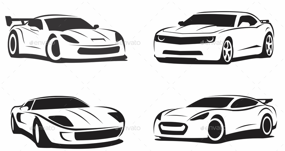 Sport Cars Drawing By Mazyo2x Graphicriver