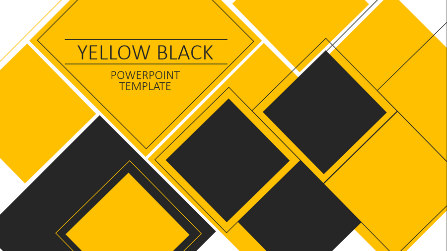 Yellow Black PowerPoint Template by pronus | GraphicRiver