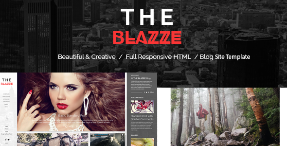 The Blazze – Blog and Magazine HTML Site Template
