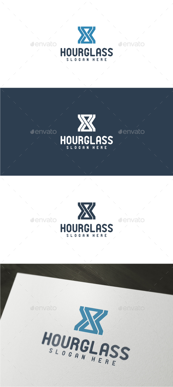 Hourglass - Logo Template - Abstract Logo Templates