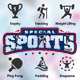 Sports Activities Flat Icons - GraphicRiver Item for Sale