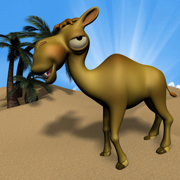 Cartoon Camel RIGGED - 3DOcean Item for Sale