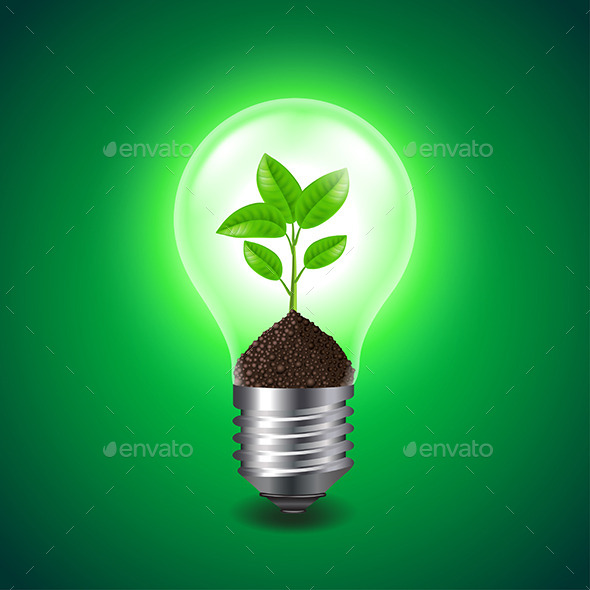 growing sprout inside a light bulb by andegro4ka graphicriver