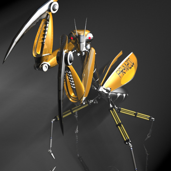 Praying Mantis Robot RIGGED - 3DOcean Item for Sale