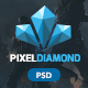 Pixel Diamond PSD Gaming Magazine + Store - ThemeForest Item for Sale