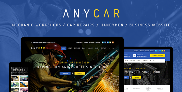 Automotive, Car Dealer, Dealership WordPress Theme - AnyCar - Business Corporate