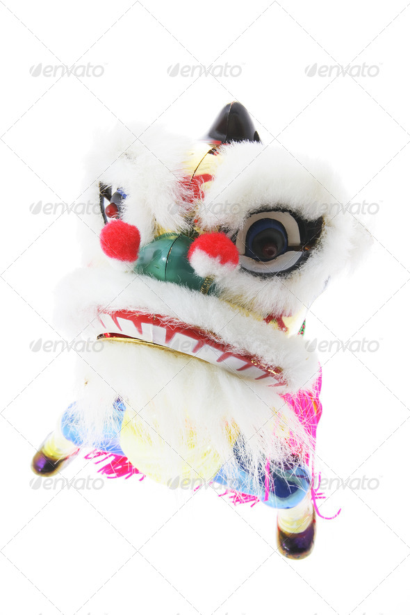 Miniature Lion Dance Ornament - Stock Photo - Images