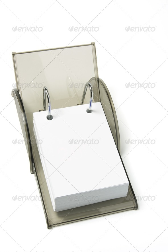 Blank Desk Calendar - Stock Photo - Images