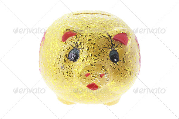 Golden Piggy Bank - Stock Photo - Images