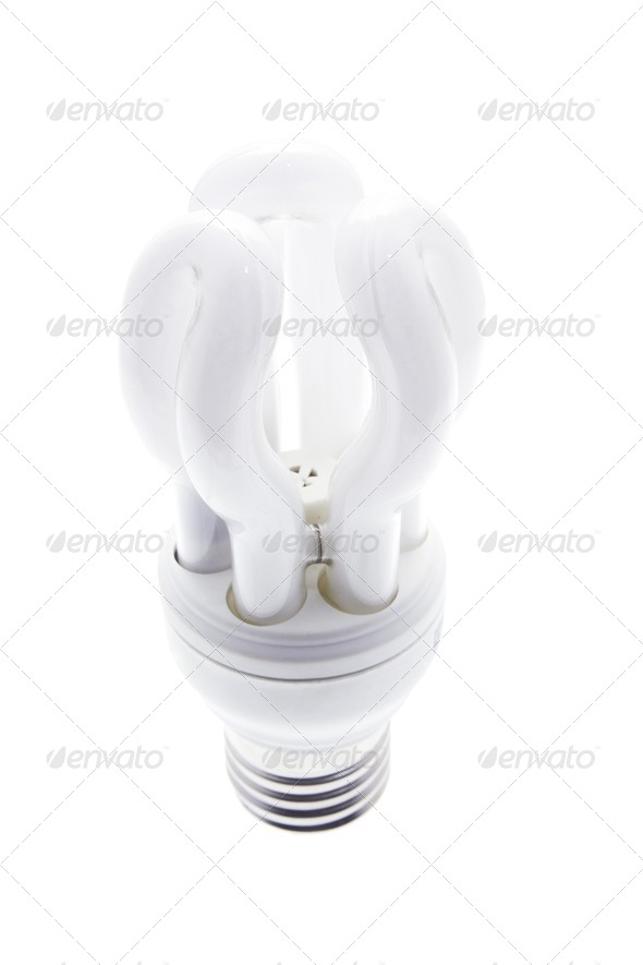 Compact Fluorescent Light Bulb - Stock Photo - Images
