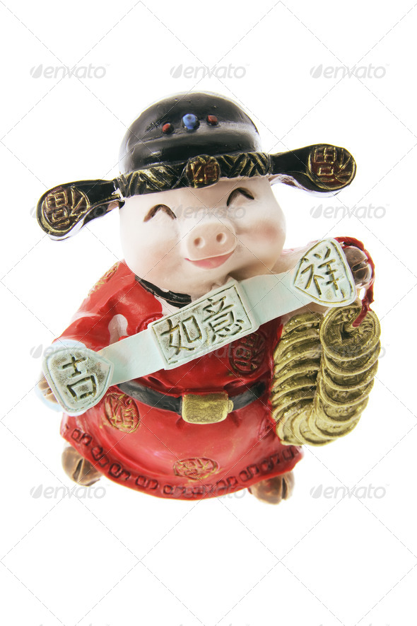 Miniature Pig Ornament - Stock Photo - Images