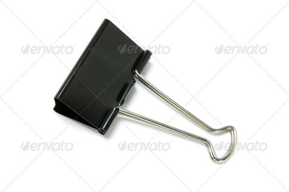 Foldback Paper Clip - Stock Photo - Images