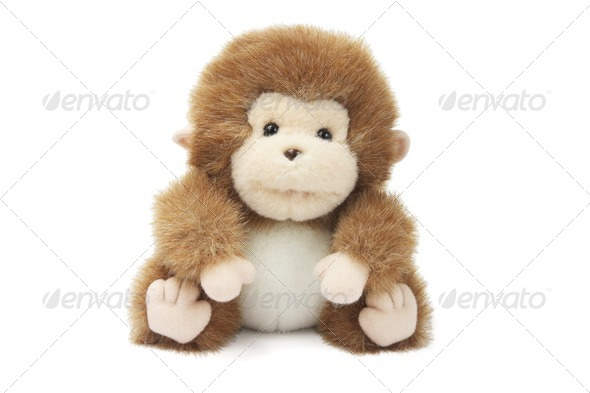 Soft Toy Baby Monkey - Stock Photo - Images