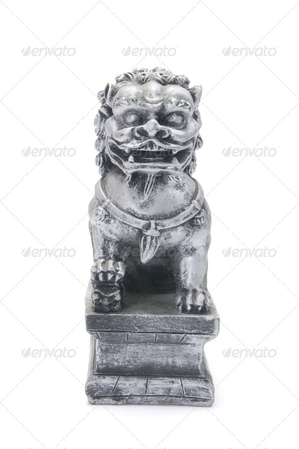 Chinese Lion Statue - Stock Photo - Images