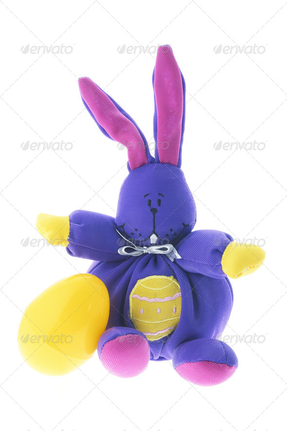 Bunny and Easter Egg - Stock Photo - Images