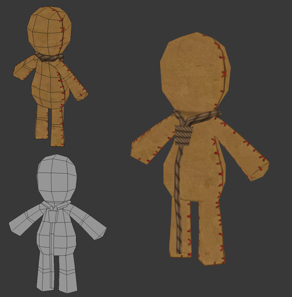 Low Poly Rag Doll - 3DOcean Item for Sale