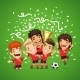 Happy Soccer Champions with Winners Cup - GraphicRiver Item for Sale