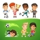 Cartoon Soccer Players and Referee - GraphicRiver Item for Sale