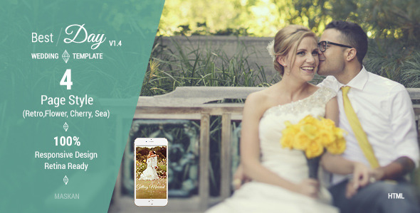 Best Day – Responsive One-Page Wedding Template