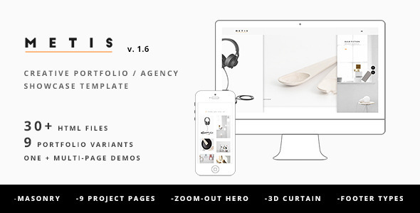 Metis - Creative Portfolio / Agency Template - Portfolio Creative