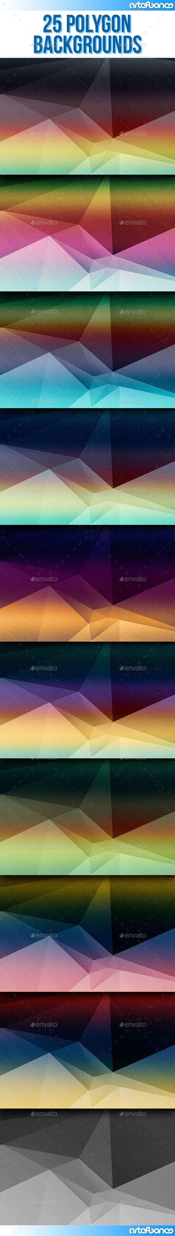 25 Polygon Backgrounds V.2