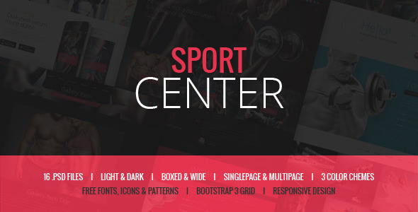 Sport Center - Yoga & Dance template